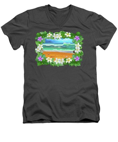 Aloha Hawaii Men's V-Neck T-Shirt