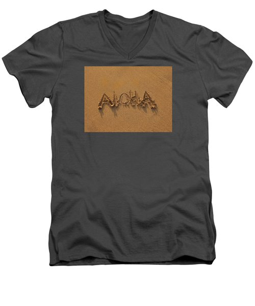 Aloha In The Sand Men's V-Neck T-Shirt