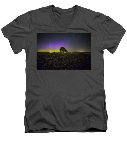 Men's V-Neck T-Shirt featuring the photograph Alone by Aaron J Groen
