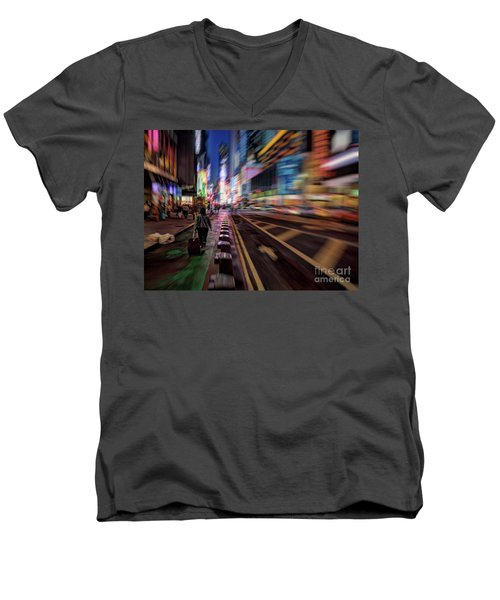 Alone In New York City 2 Men's V-Neck T-Shirt