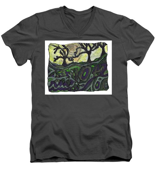 Alone In The Woods Men's V-Neck T-Shirt