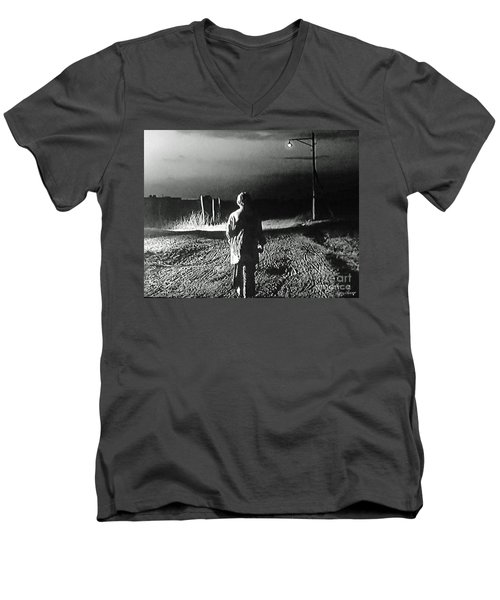 Men's V-Neck T-Shirt featuring the photograph Alone by Lyric Lucas