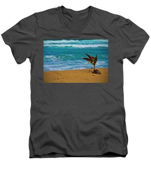 Alone On The Beach Men's V-Neck T-Shirt