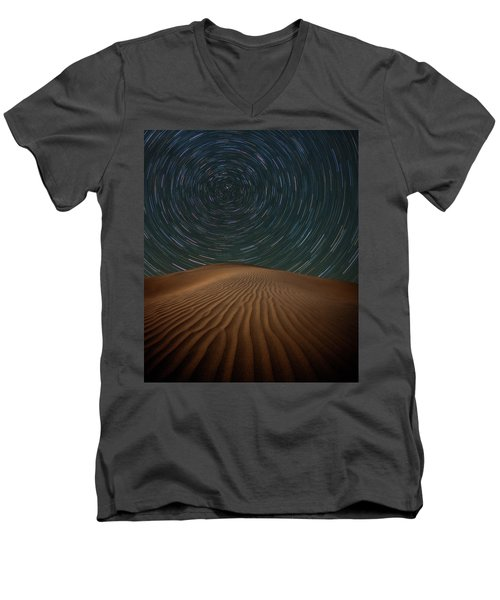 Men's V-Neck T-Shirt featuring the photograph Alone On The Dunes by Darren White