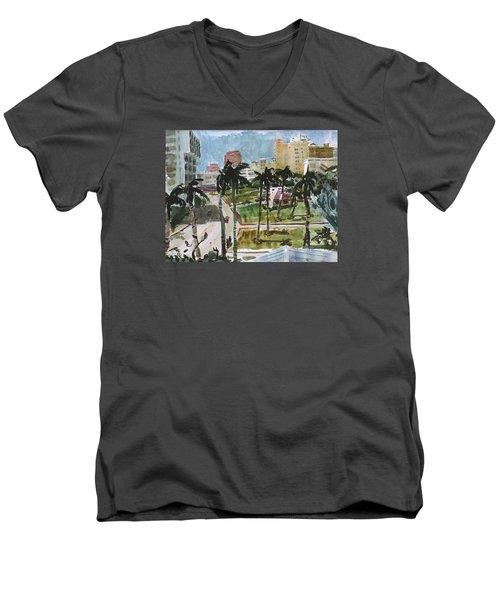 Along Flagler Drive Men's V-Neck T-Shirt