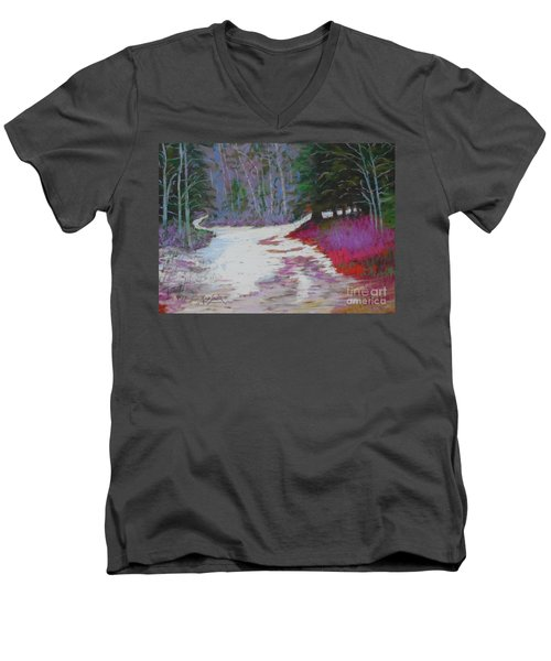 Along The 103  Men's V-Neck T-Shirt