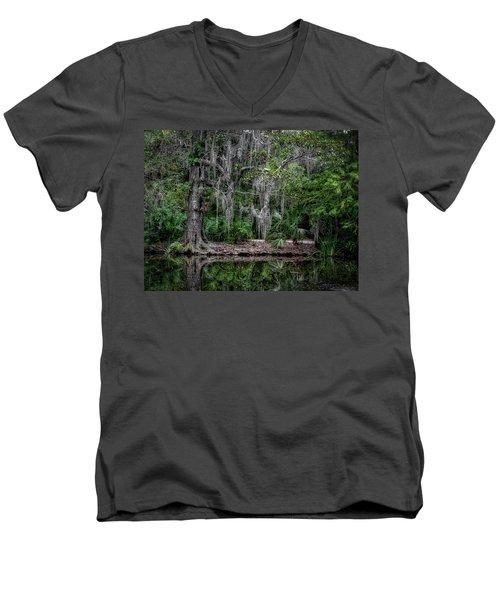 Along The Bank Men's V-Neck T-Shirt
