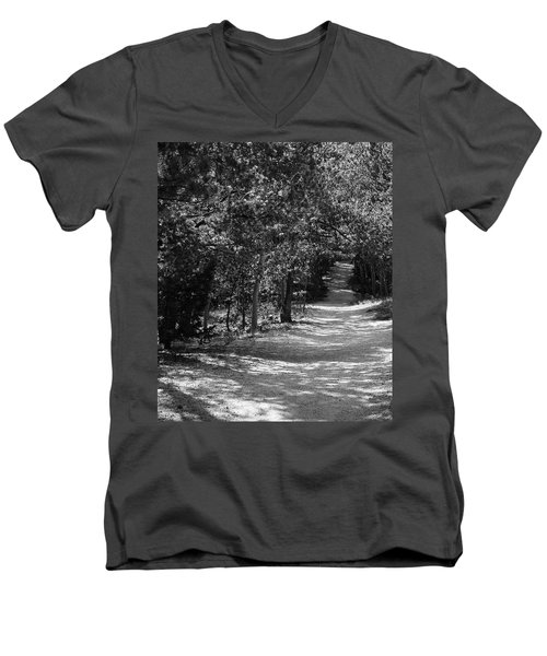 Men's V-Neck T-Shirt featuring the photograph Along The Barr Trail by Christin Brodie