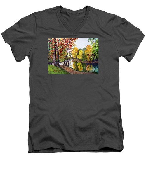 Along The Blanchard Men's V-Neck T-Shirt