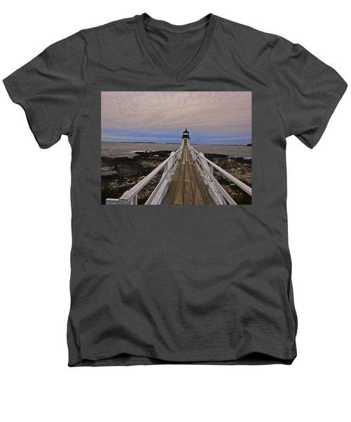 Along The Boardwalk Men's V-Neck T-Shirt
