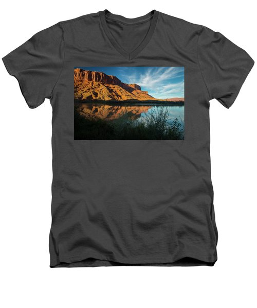 Men's V-Neck T-Shirt featuring the photograph Along The Colorado by Gary Lengyel