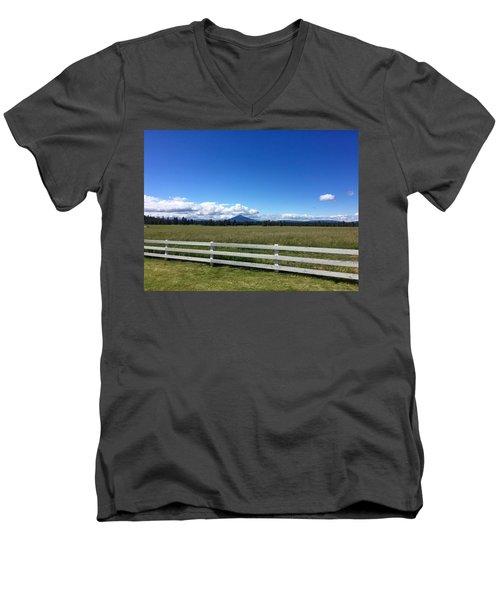 Along The Fence Line Men's V-Neck T-Shirt