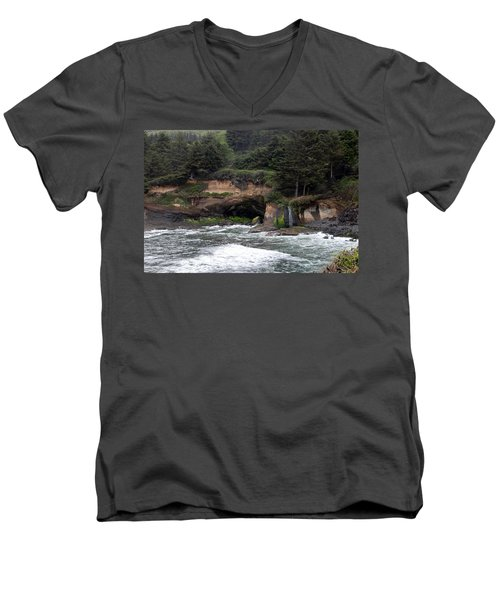 Along The Oregon Coast - 5 Men's V-Neck T-Shirt
