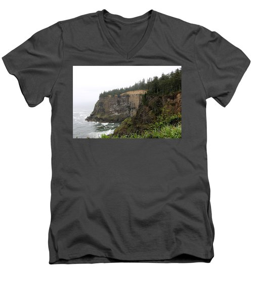 Along The Oregon Coast - 8 Men's V-Neck T-Shirt
