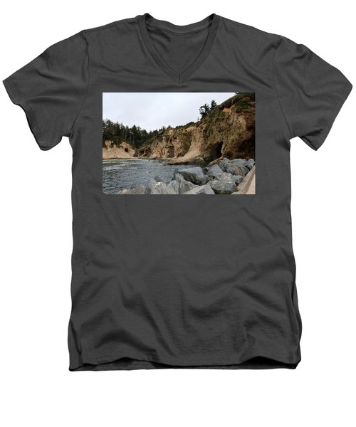Along The Oregon Coast  Men's V-Neck T-Shirt