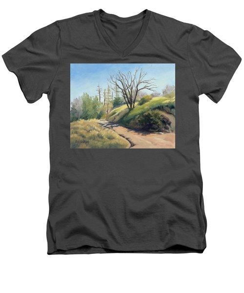 Along The Pacific Crest Trail Men's V-Neck T-Shirt