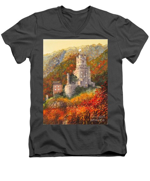 Along The Rhine I Men's V-Neck T-Shirt