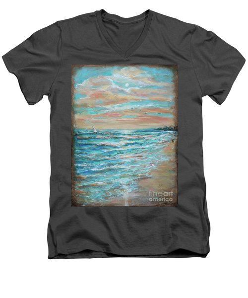 Along The Shore Men's V-Neck T-Shirt