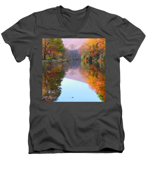 Along These Autumn Days Men's V-Neck T-Shirt