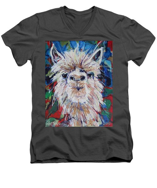 Alpaca Crazed Men's V-Neck T-Shirt