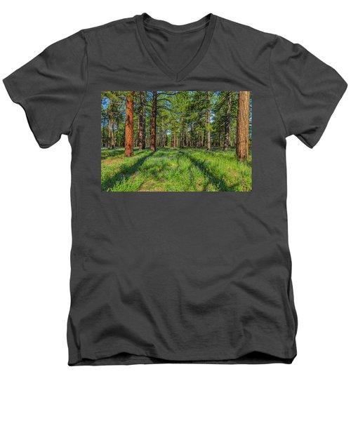 Alpine Flowers Men's V-Neck T-Shirt