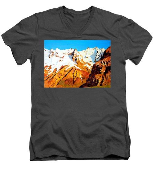 Alpine Landscape Men's V-Neck T-Shirt by Henryk Gorecki