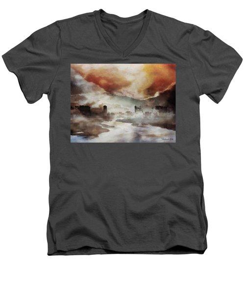 Alpine Landscape Men's V-Neck T-Shirt