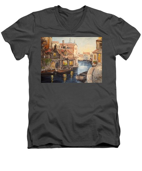 Alsace At Dusk Men's V-Neck T-Shirt