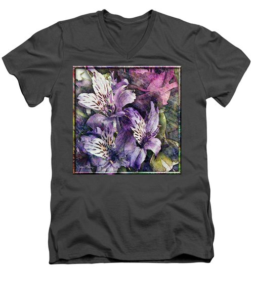 Alstroemeria Men's V-Neck T-Shirt