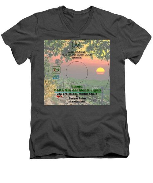 Alta Via Dei Monti Liguri Cd Cover Men's V-Neck T-Shirt
