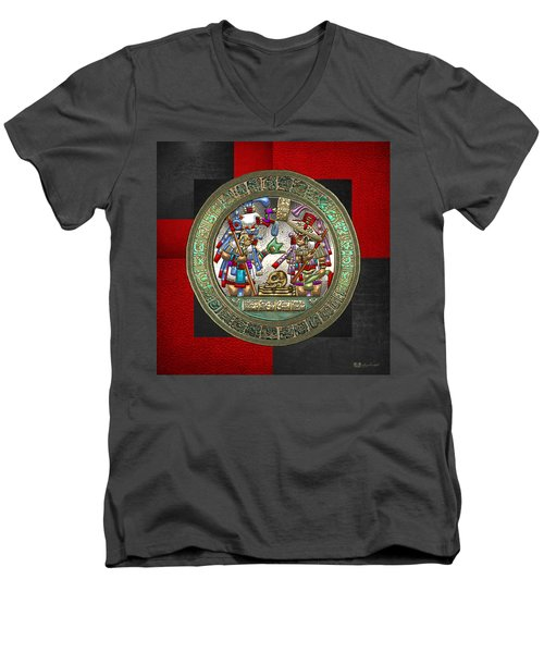 Altar 5 From Tikal Men's V-Neck T-Shirt