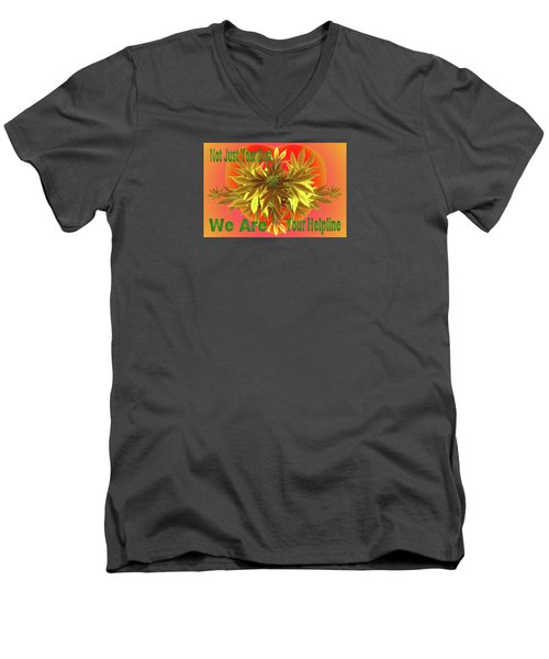Men's V-Neck T-Shirt featuring the mixed media Alternative Medicine by Mike Breau