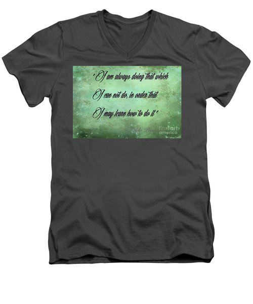 Men's V-Neck T-Shirt featuring the photograph Always by Jim  Hatch
