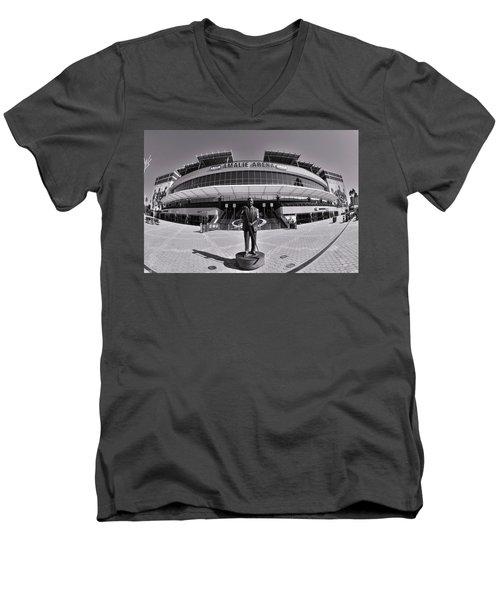 Amalie Arena Black And White Men's V-Neck T-Shirt