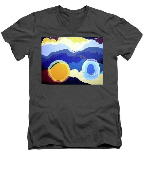 Amandas Abstract Men's V-Neck T-Shirt
