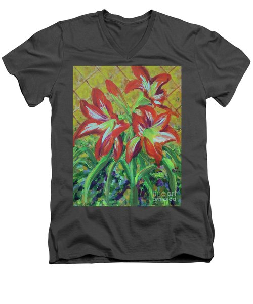 Amaryllis Men's V-Neck T-Shirt