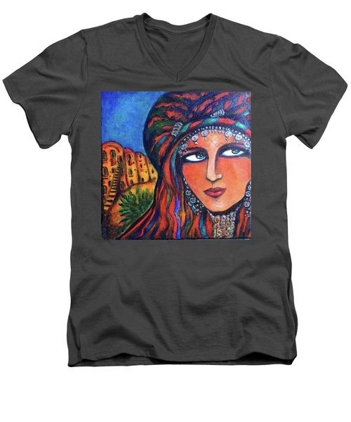 Amazigh Beauty 2 Men's V-Neck T-Shirt