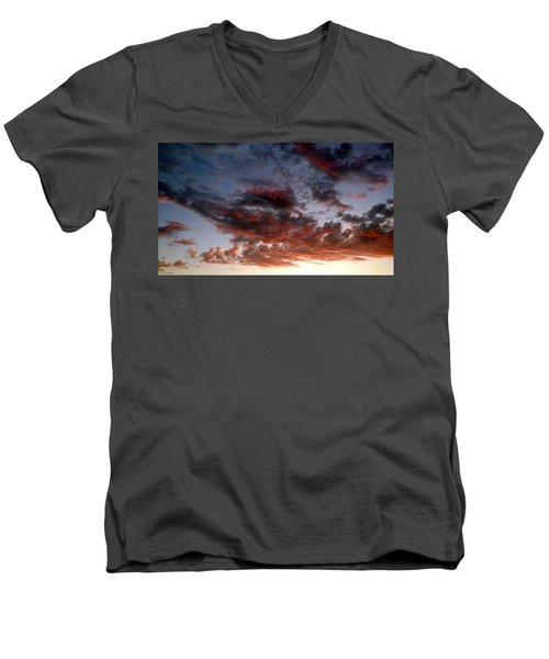 Spectacular Clouds  Men's V-Neck T-Shirt