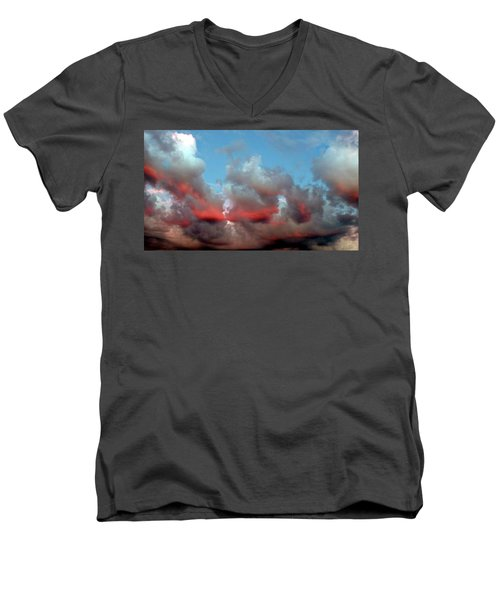 Imaginary Real Clouds  Men's V-Neck T-Shirt