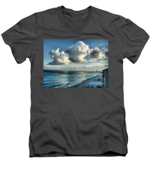 Men's V-Neck T-Shirt featuring the photograph Amazing Clouds by Polly Peacock