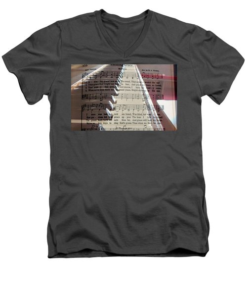 Amazing Grace Men's V-Neck T-Shirt by Betty Northcutt