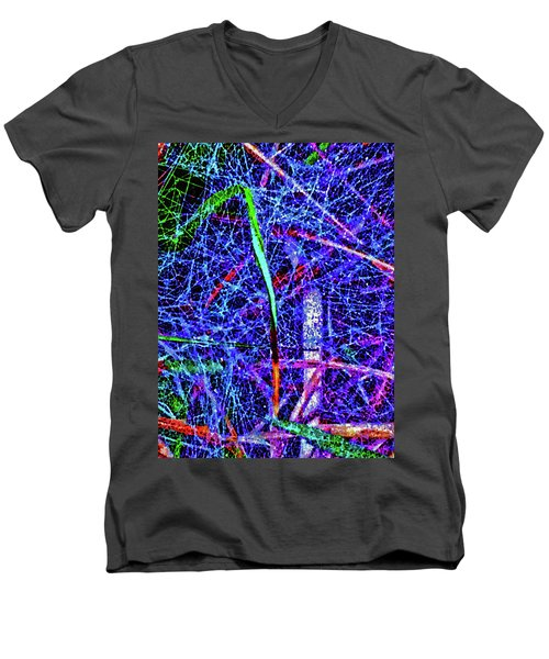 Amazing Invisible Web Men's V-Neck T-Shirt by Gina O'Brien