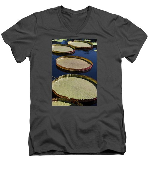 Men's V-Neck T-Shirt featuring the photograph Amazonas Lily Pads II by Suzanne Gaff