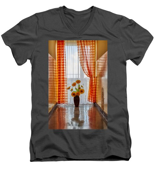 Amber View Men's V-Neck T-Shirt