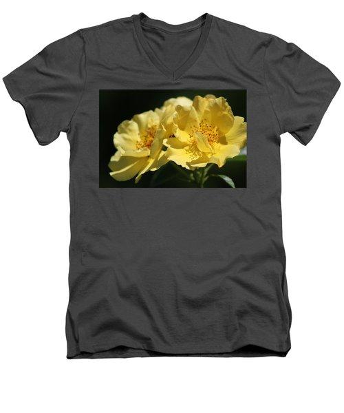 Amber Yellow Country Rose Men's V-Neck T-Shirt