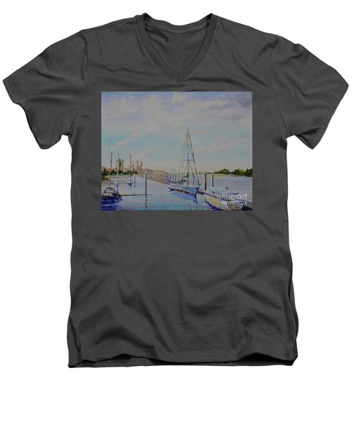 Amelia Island Port Men's V-Neck T-Shirt