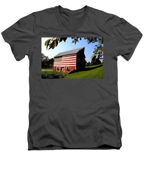 Americana 1 Desoto Kansas Men's V-Neck T-Shirt