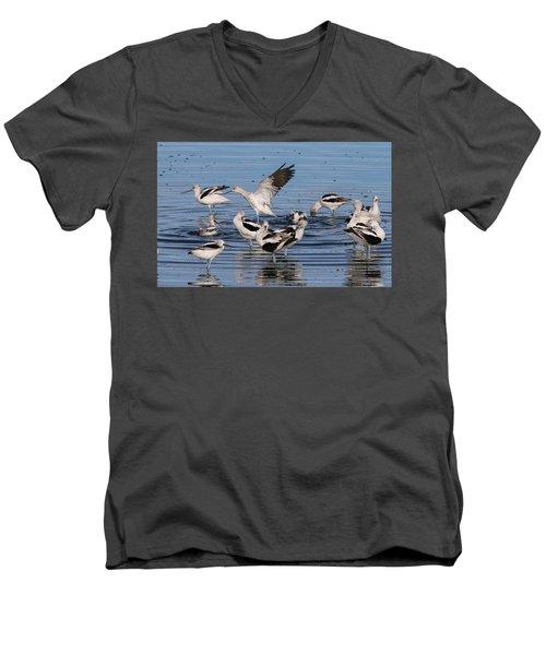 American Avocet's Taking A Break Men's V-Neck T-Shirt