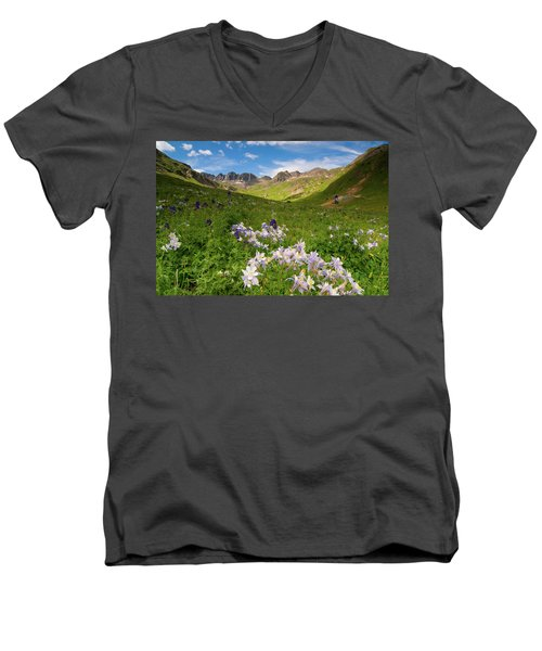Men's V-Neck T-Shirt featuring the photograph American Basin by Steve Stuller