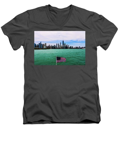 American Chi 2 Men's V-Neck T-Shirt